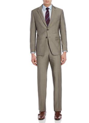 Armani Collezioni Two-Piece Sand Wool Suit