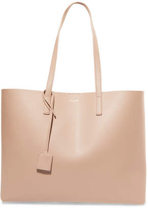 Saint Laurent Shopper Large Leather Tote - Beige