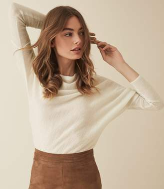 Reiss HOLLY OFF-THE-SHOULDER JUMPER White