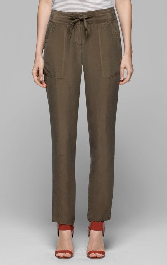 Theory Sidonia Pant in Dunes Silk