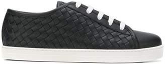 Bottega Veneta woven lace up sneakers