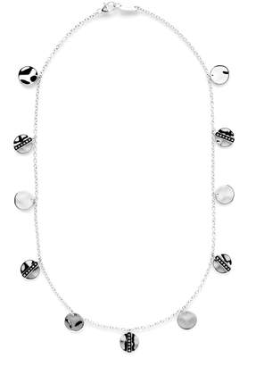 "Ippolita Senso Disc Paillette Necklace with Diamonds, 18"""