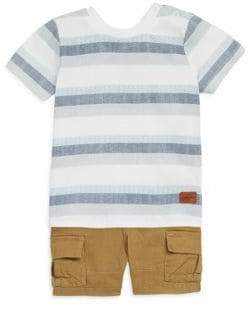 7 For All Mankind Baby Boy's Two-Piece Crewneck Tee and Cargo Shorts Set