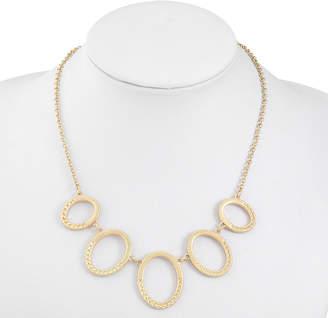 Liz Claiborne Womens Oval Collar Necklace