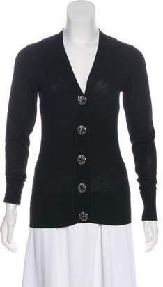 Tory Burch V-Neck Wool Cardigan