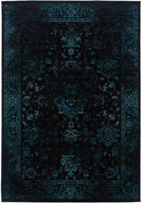 "Oriental Weavers Closeout! Oriental Weavers Revamp REV7689G Turquoise 7'10"" x 10'10"" Area Rug"