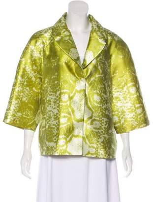 Giambattista Valli Printed Satin Jacket