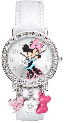 Disney Disney's Minnie Mouse Women's Crystal Charm Watch