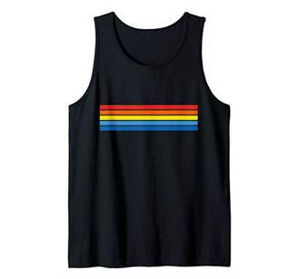 Abstract Colorful Stripes Vintage Style Tank Top