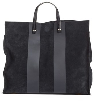 Clare V. 'Simple' Stripe Leather Tote $495 thestylecure.com