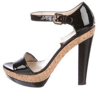 Prada Leather Platform Sandals