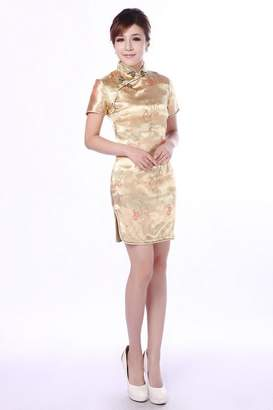 story. Shanghai Women's Short Cheongsam Qipao Chinese Traditional Dress 2XL