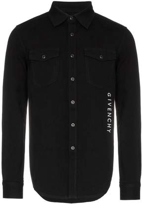 Givenchy logo buttoned denim shirt