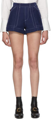 Chloé Blue A-Line Shorts