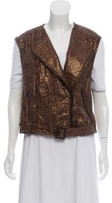 Alice + Olivia Metallic Tweed Vest w/ Tags