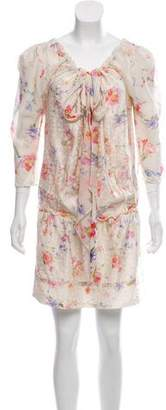 Nina Ricci Floral Silk Shift Dress
