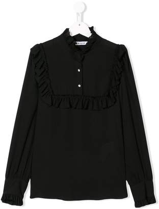 Dondup Kids frill-trim fitted blouse