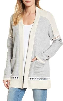 Caslon French Terry Open Front Cotton Cardigan