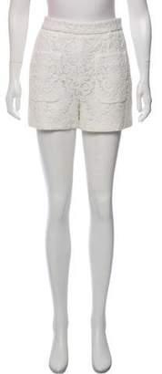 Chloé Embroidered Mini Shorts