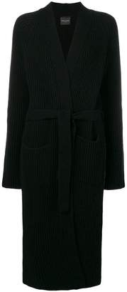 Roberto Collina belted mid-length cardigan
