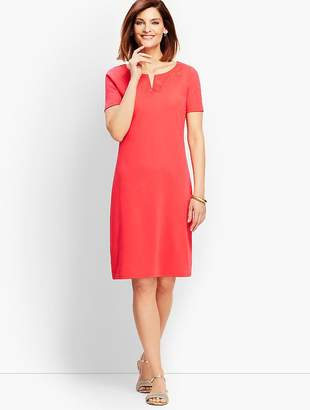 Talbots French Interlock Embroidered Shift Dress