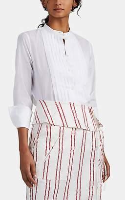 Barneys New York Women's Pleated Cotton Voile Blouse - White