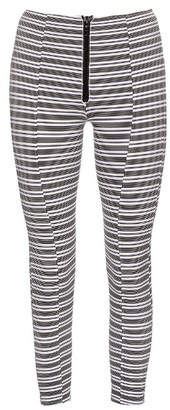 LISA MARIE FERNANDEZ Hannah striped performance leggings $390 thestylecure.com