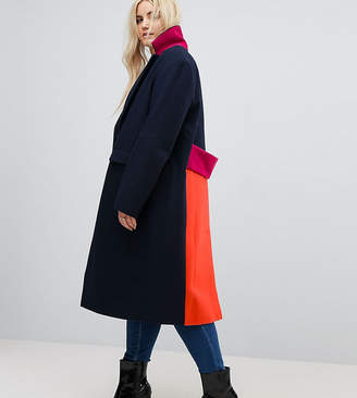 Asos Coat in Colourblock