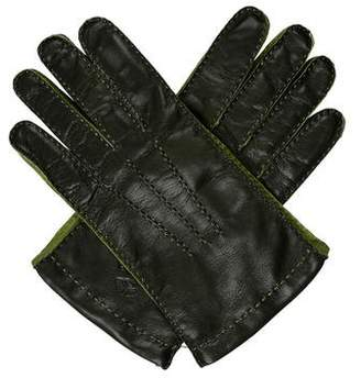 Etro Cashmere-Lined Leather Gloves w/ Tags
