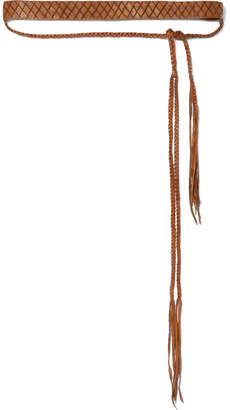 Caravana Toloc Braided Leather Belt - Brown
