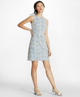 Brooks Brothers Floral Cotton Eyelet Sheath Dress