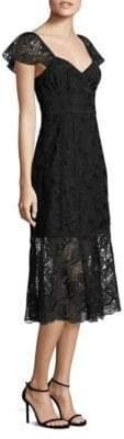 Nanette Lepore Firefly Scalloped Trim Dress