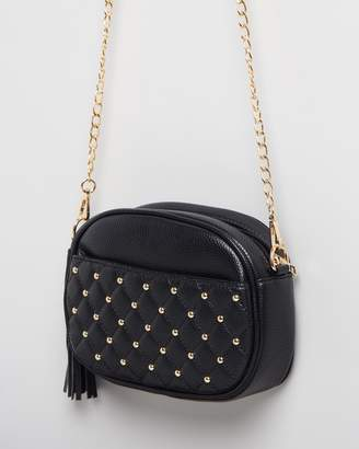 Missguided Gold Stud Cross Body Bag
