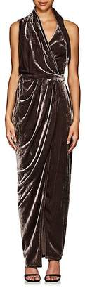 Rick Owens Women's Limo Draped Velvet Wrap Dress
