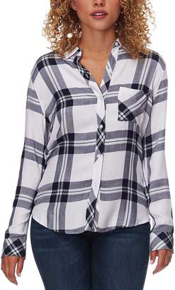 Rails Hunter White/Navy/Forest Long-Sleeve Button Up - Women's