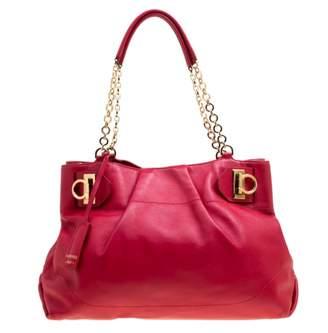 Salvatore Ferragamo Red Leather Handbag