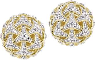 Affinity Diamond Jewelry Affinity 14K 4/10 cttw Diamond Ball Stud Earrings
