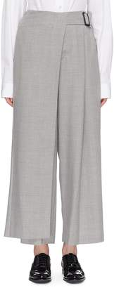 The Keiji Buckled drape wrap overlay pants