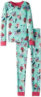 Hatley Underwater Kingdom Long Sleeve Pajama Set Girl's Pajama Sets