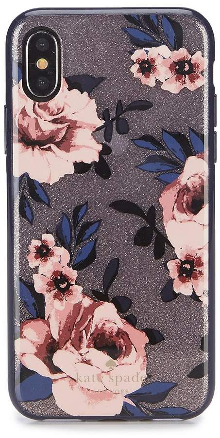 Kate Spade New York kate spade new york Glitter Prairie Rose iPhone X Case