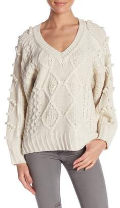Molly Bracken Pompom Knit Sweater