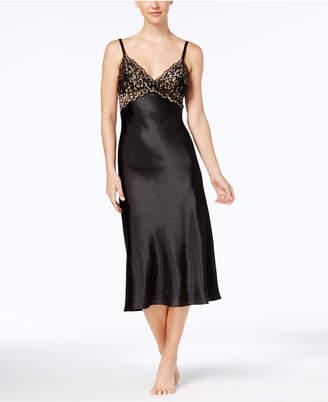 Thalia Sodi Lace-Trim Satin Nightgown