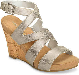 Aerosoles Silver Plush Wedge Sandal - Women's