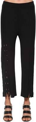 Kenzo Cropped Knit Pants W/ Cutouts