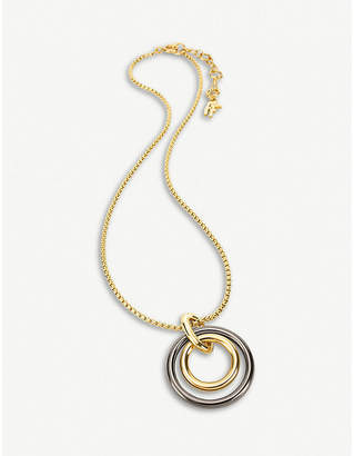 Folli Follie Metal Chic yellow-gold plated metal short necklace