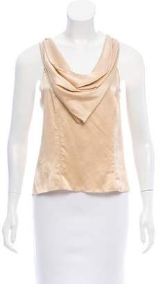 Behnaz Sarafpour Lace-Trimmed Silk Top w/ Tags