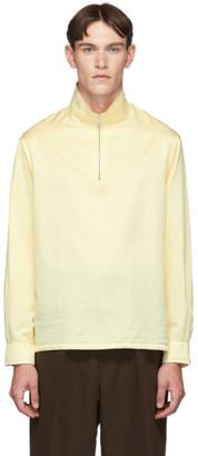 Our Legacy Yellow Half Zip Polo Sweatshirt