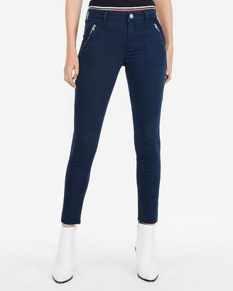Express Mid Rise Patch Pocket Ankle Pant