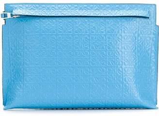 Loewe logo embossed clutch bag