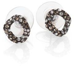 Alexis Bittar Elements Jardin De Papillon Crystal Link Stud Earrings/Gunmetal $75 thestylecure.com